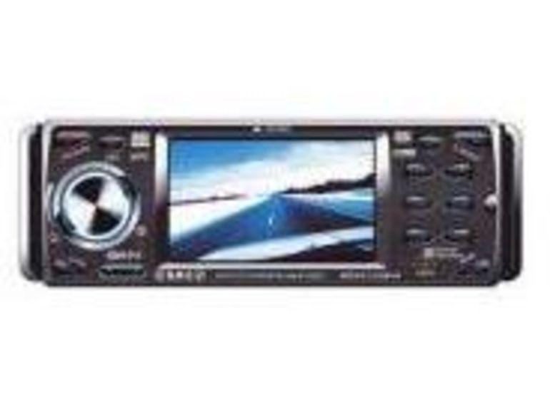 Paris Tuning Show 2007 : Sevic présente le Blue Laser SBL0103MP4, autoradio DVD avec mini écran en façade