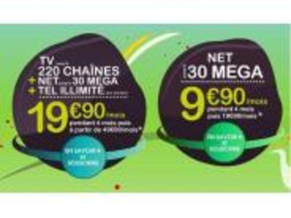 Numericâble lance un accès internet 100 mégas pour 30 € par mois