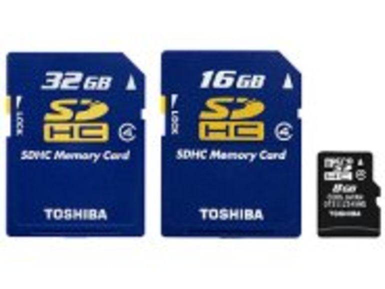 Toshiba annonce la première carte mémoire de 32 Go au standard SDHC