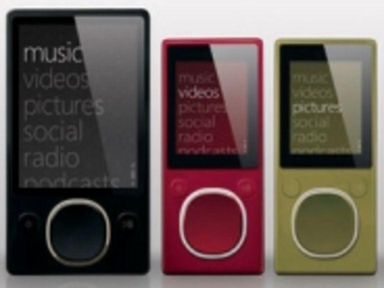 Le Zune de Microsoft en vente le 13 novembre