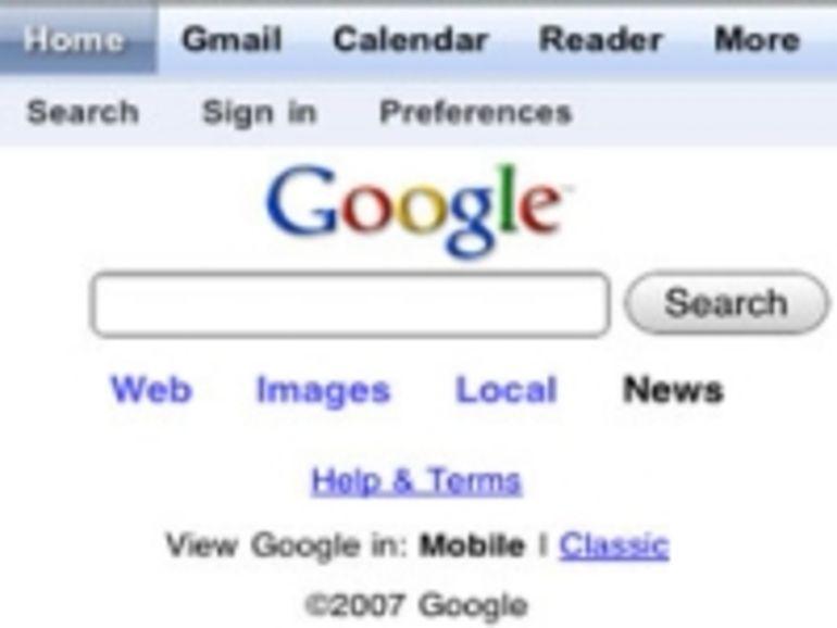 Google s'adapte à l'écran de l'iPhone