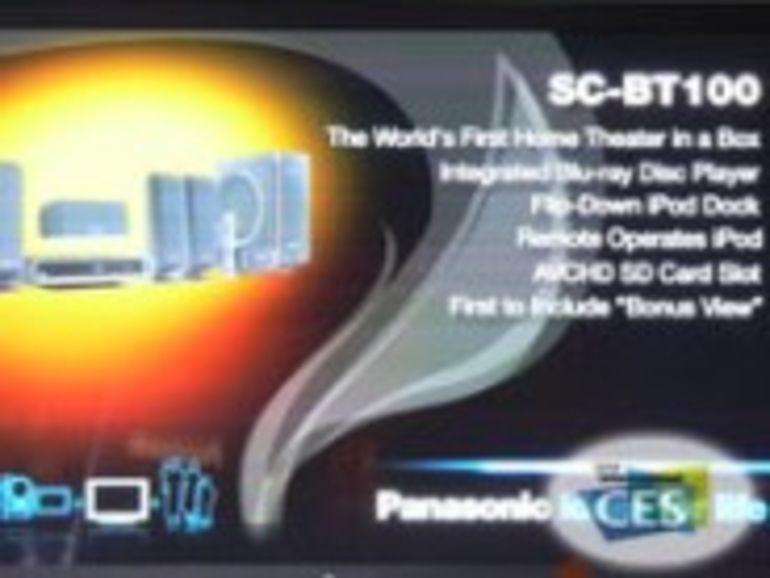 CES 2008 : Panasonic lance le premier pack Home Cinéma avec un lecteur Blu-ray intégré, le SC-BT100