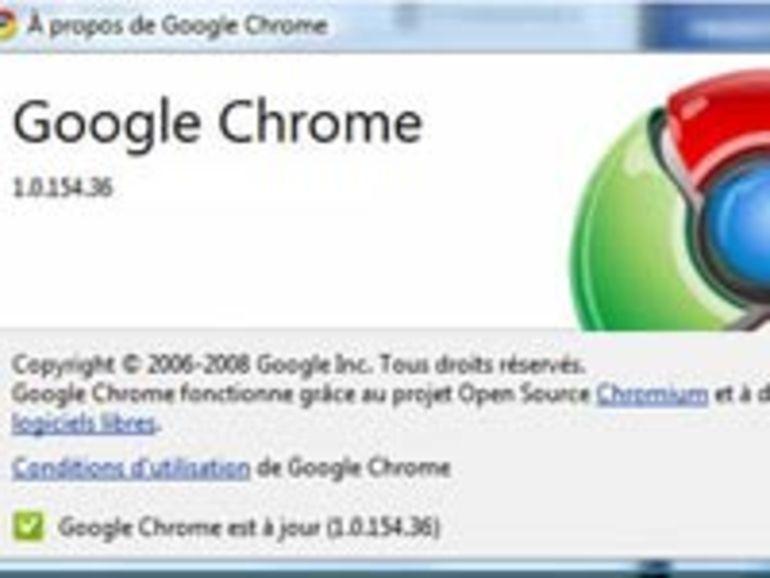La version finale de Google Chrome est disponible