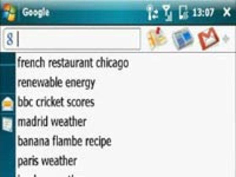 Google Mobile disponible sur les téléphones Windows Mobile