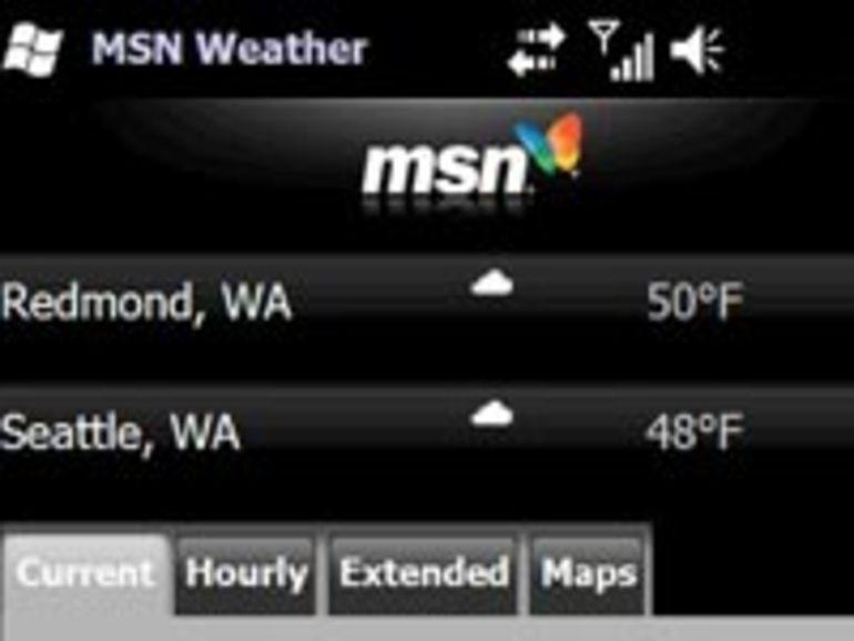 Des widgets dans Windows Mobile 6.5