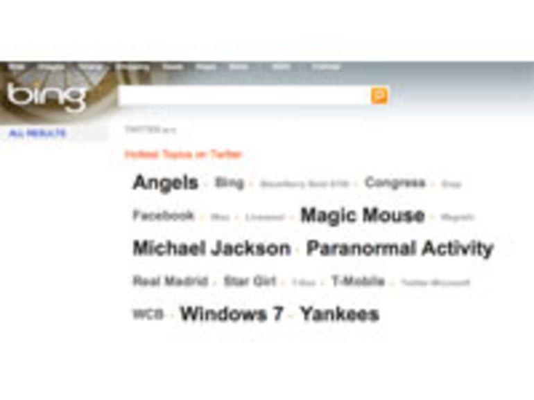 Facebook et Twitter vont être indexés par Bing