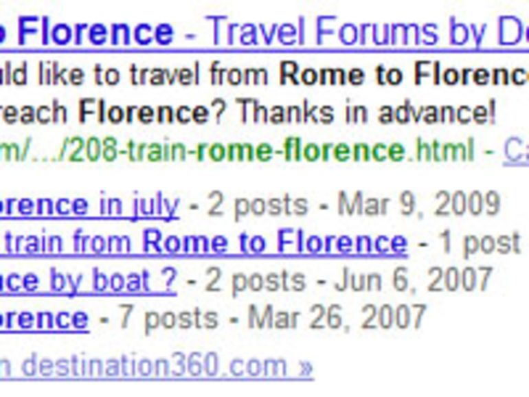 Les forums mieux indexés dans Google