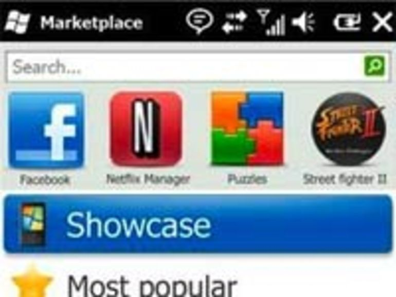 Windows Mobile 6.5 : Windows Marketplace disponible