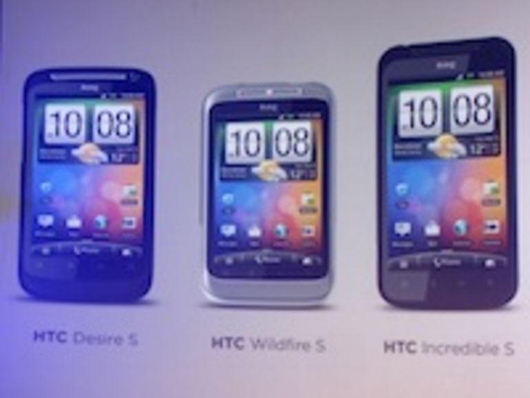 HTC Desire,Desire HD,Desire Z et l'Incredible S: bientôt la mise à jour Android Gingerbread