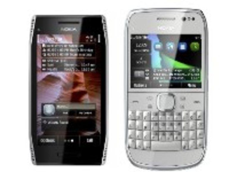 Nokia E6 et X7 : deux smartphones sous Symbian Anna