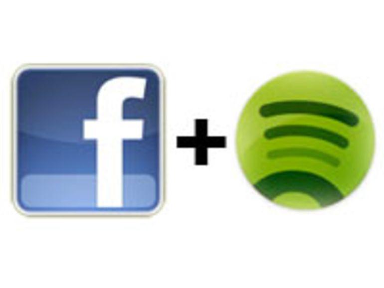 Un partenariat entre Facebook et Spotify pour un service de musique sur le réseau social