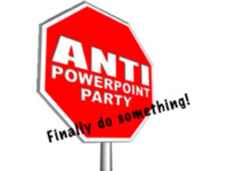 Un parti politique suisse veut interdire l'usage de PowerPoint