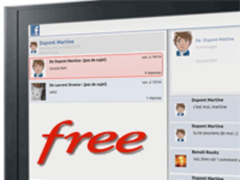 La freebox propulse Facebook sur TV