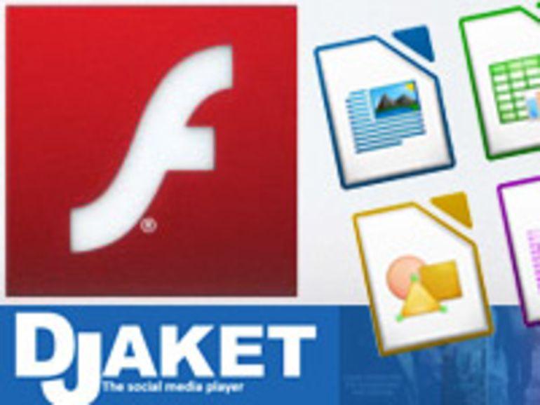 Libre Office, Djaket, Flash Player... vos mises à jour hebdo