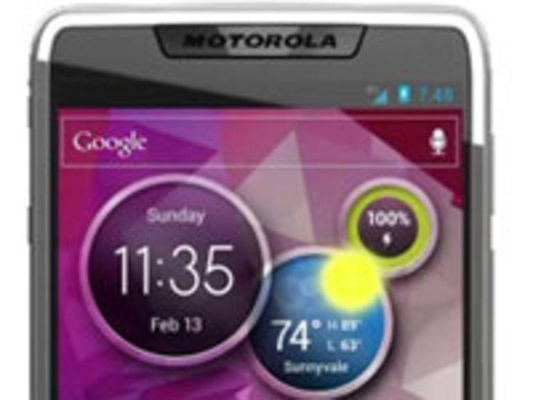 Première photo d'un smartphone Motorola équipé d'une puce Medfield et Android 4
