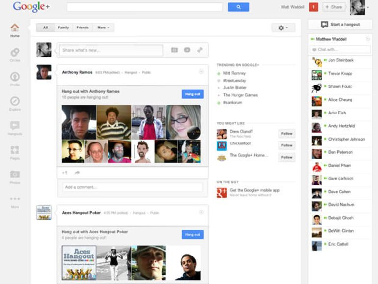 Google+ revoit encore son interface