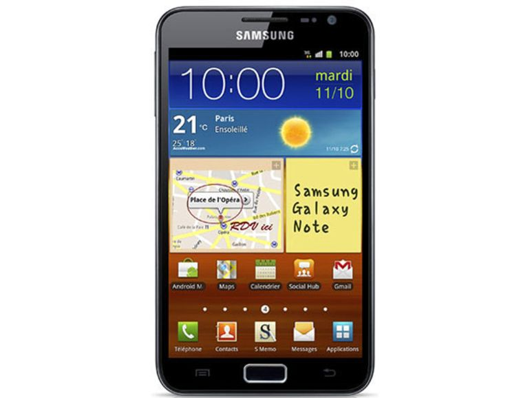 Android 4 ICS arrive sur le Samsung Galaxy Note