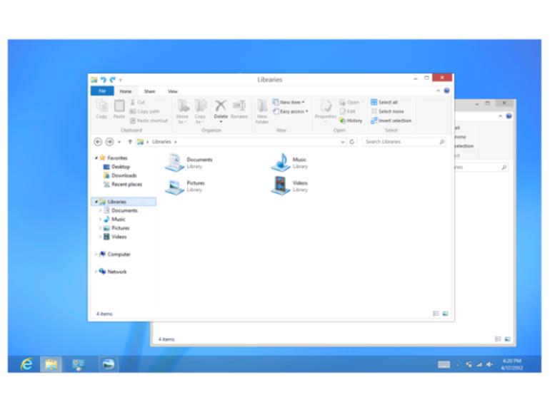 L'explorateur Windows 8 se montre avec quelques retouches