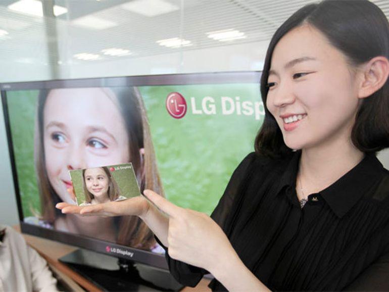 Ecran pour smartphone et tablette : LG fait mieux que le Rétina
