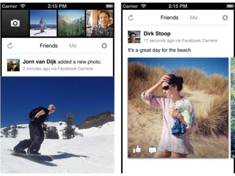 Facebook lance Facebook Camera, un Instagram dédié à Facebook (en mieux ?)