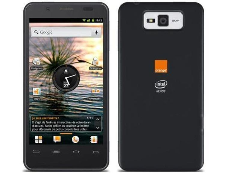 Orange propose un smartphone Intel Inside en France
