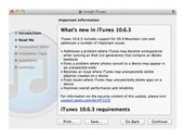 Apple publie la mise à jour iTunes 10.6.3