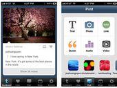Nouvelle version de Tumblr sous iOS