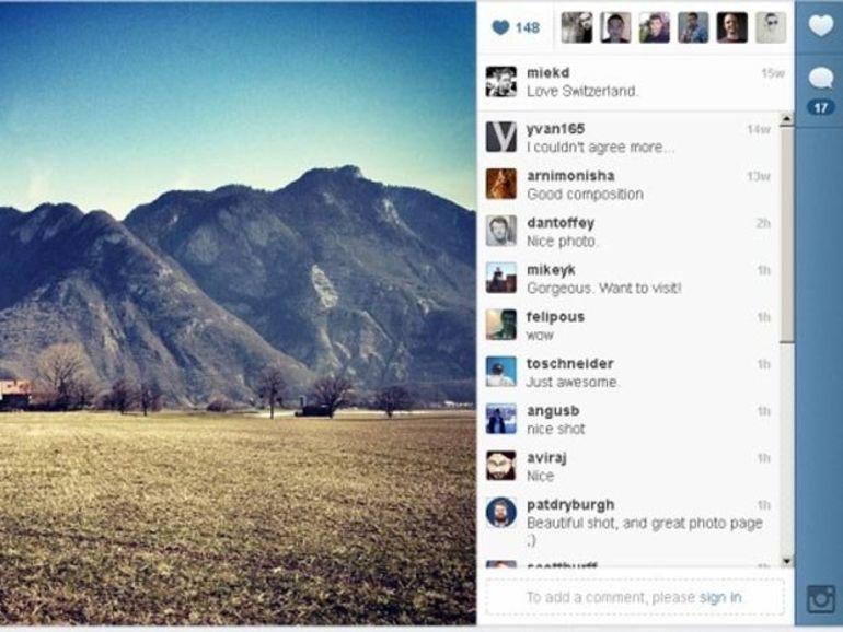 La version web d'Instagram évolue