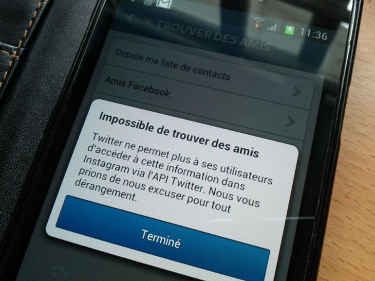 """Twitter bloque Instagram : """"Impossible de trouver des amis"""""""