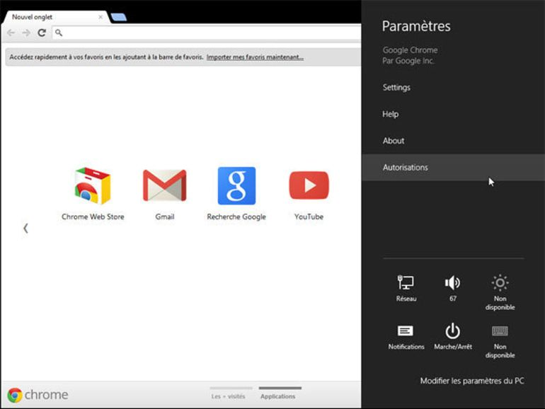 Chrome 21 stable compatible Windows 8 Metro à télécharger