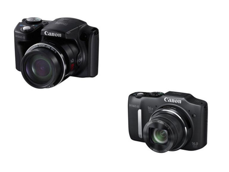 Canon PowerShot SX500 IS et SX160 IS, deux gros zoom à 16x  et 30x pour Canon
