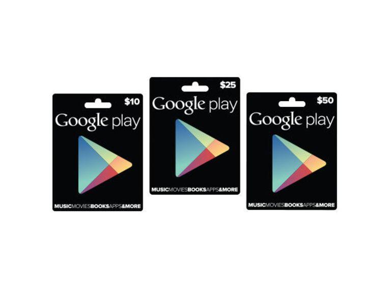 Google Play lance ses cartes cadeaux