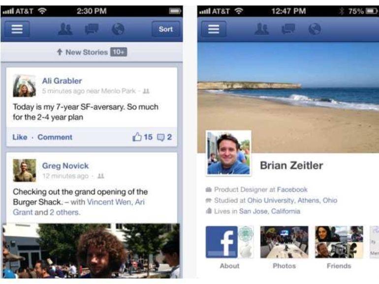 Facebook rend son application pour iOS plus rapide
