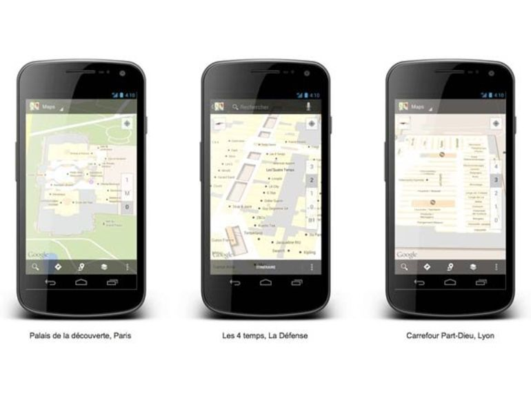 Google Maps Indoor disponible en France via Android