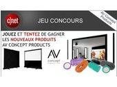 Concours CNET France / AV Concept : un écran et des enceintes à gagner