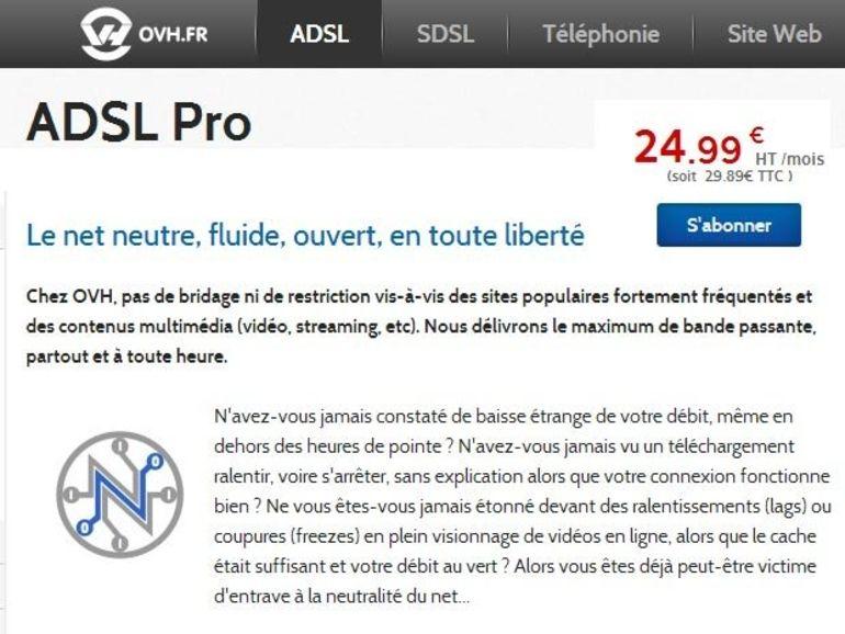 OVH met à jour ses offres ADSL et SDSL, bande passante garantie