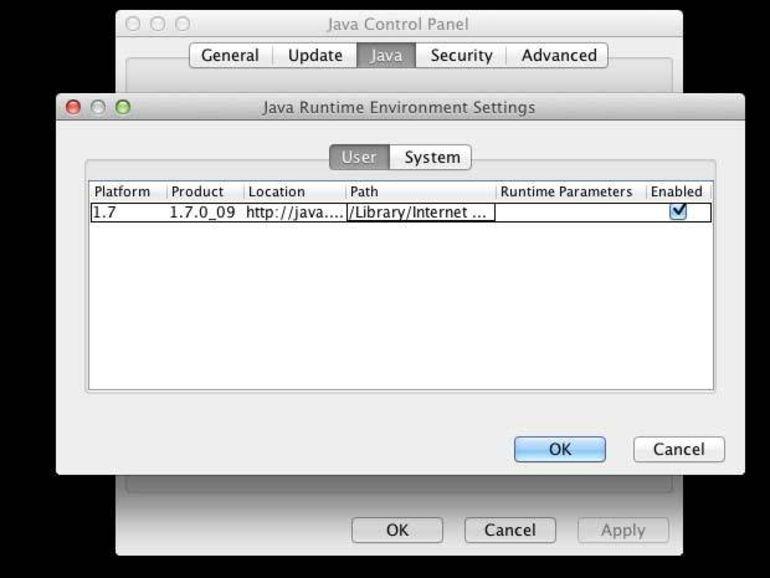 Le plug-in Java exclu des navigateurs sous Mac OS X