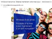 Phishing : des emails piégés proposent Windows 8 gratuitement