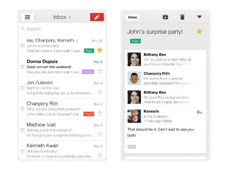 Google publie Gmail 2.0 pour iOS