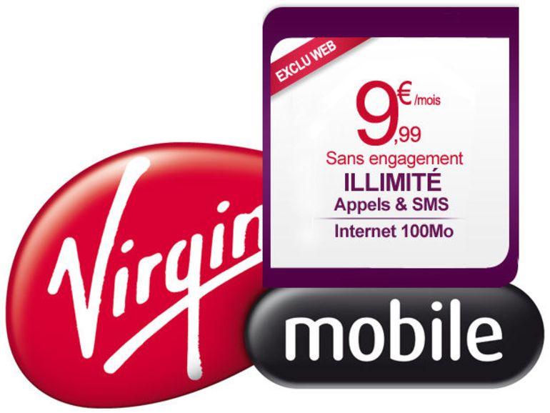 Virgin mobile : 9,99 euros pour l'illimité voix et sms avec internet mobile