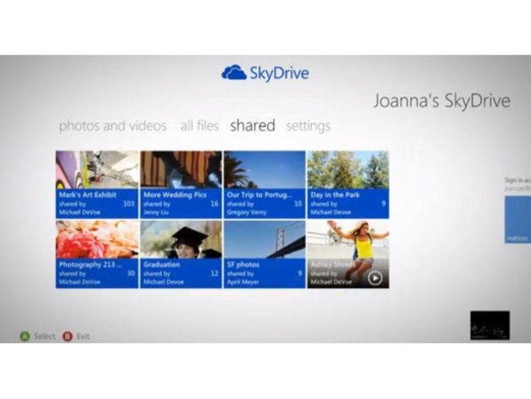 La Xbox 360 s'enrichit de SkyDrive et de nombreuses applications de VOD