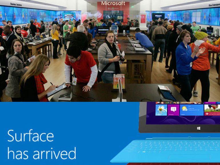 La tablette Surface en vente dans les commerces indépendants