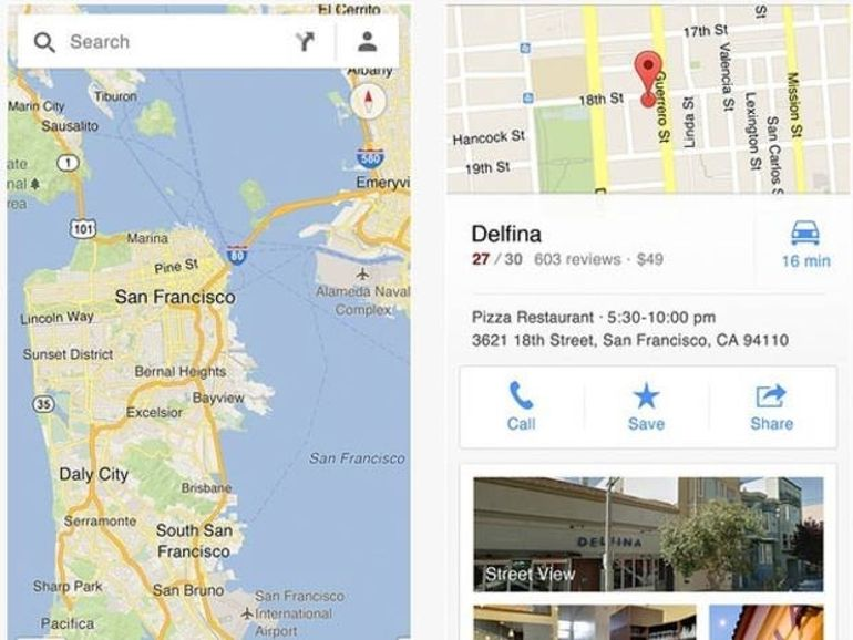 L'application Google Maps de retour sur l'iPhone