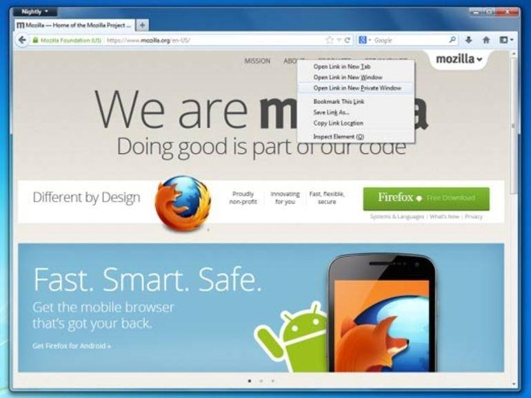 Firefox améliore son mode de navigation privée