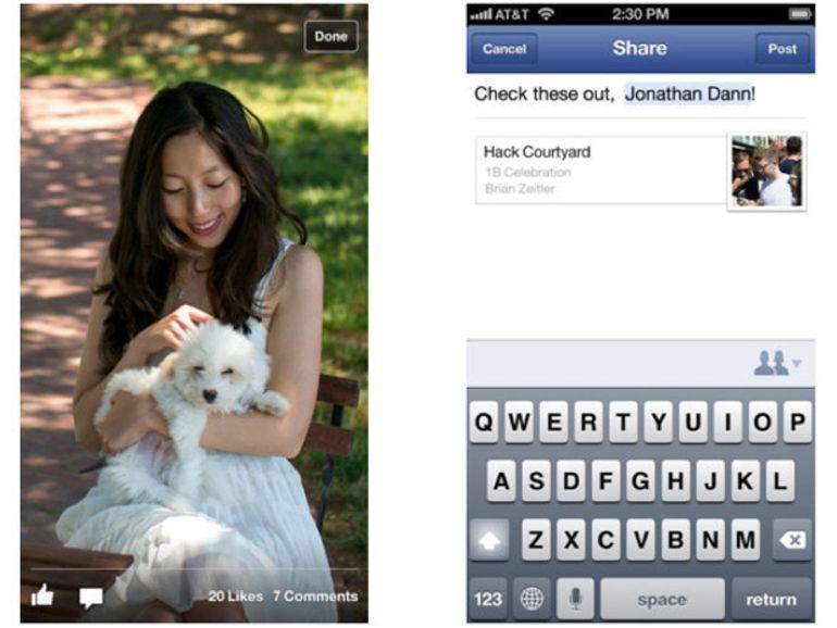 Facebook plus rapide sur iPhone, iPad et Android
