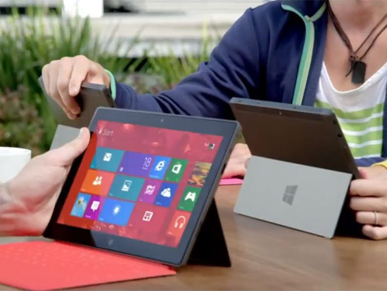 La tablette Microsoft Surface en vente en magasin en France