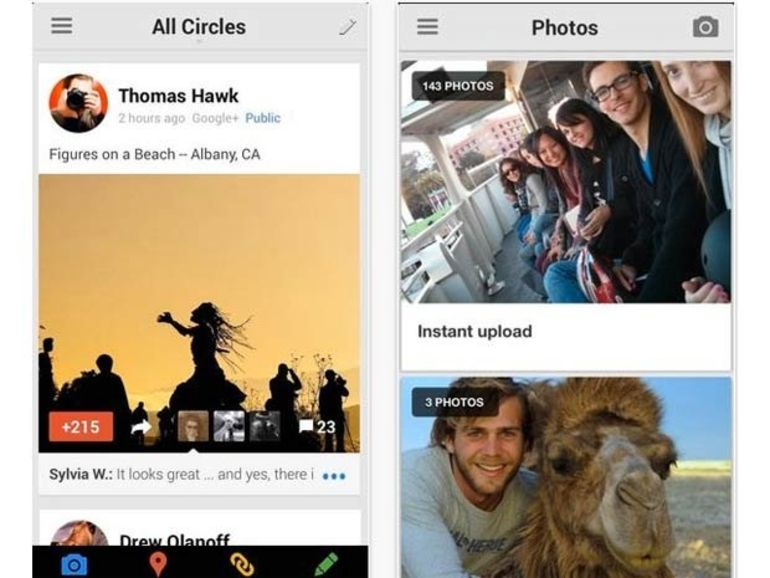 Importante mise à jour de Google+ pour Android et iOS