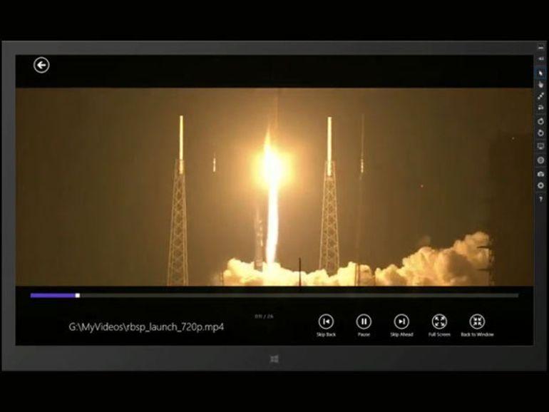 VLC diffuse les premières images de son interface Windows 8/RT