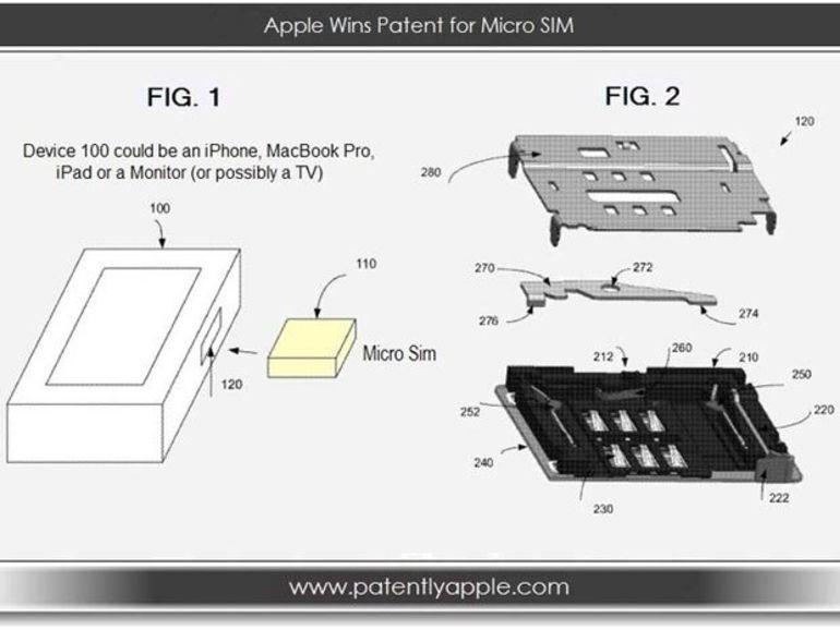 Apple dépose un brevet sur les cartes micro SIM