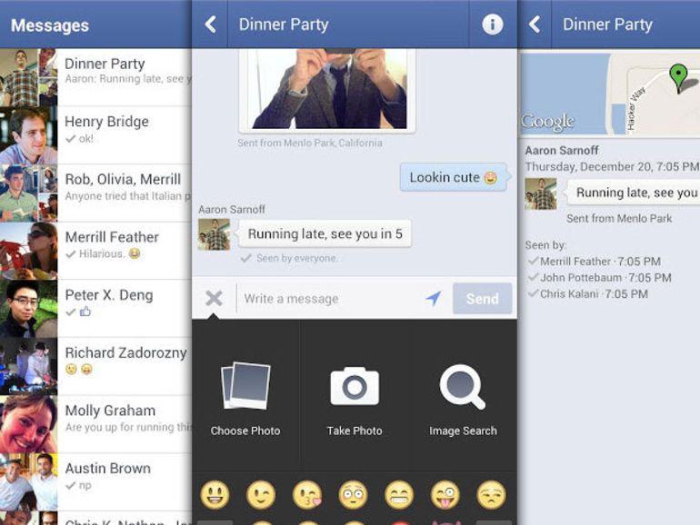 Facebook Messenger pour Android et iOS propose des messages vocaux